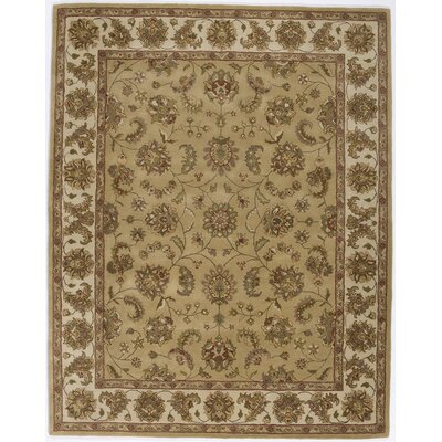 Hand-Tufted Gold Area Rug Rug Size: Runner 23 x 76