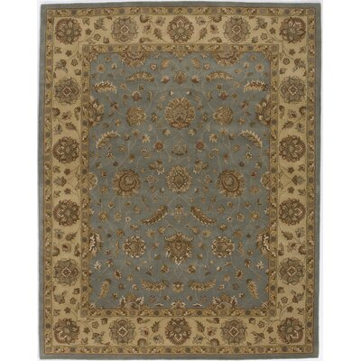 Hand-Tufted Gold Area Rug Rug Size: 76 x 96