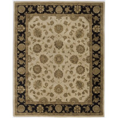 Hand-Tufted Beige Area Rug Rug Size: 86 x 116