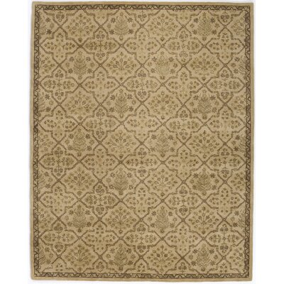 Hand-Tufted Beige Area Rug Rug Size: 76 x 96