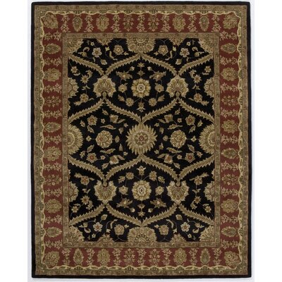 Hand-Tufted Black/Brown Area Rug Rug Size: 7'6