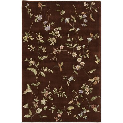 Hand-Tufted Red Area Rug Rug Size: 16 x 23