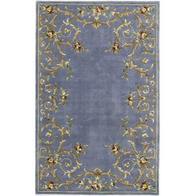Hand-Tufted Blue Area Rug Rug Size: 7 x 9