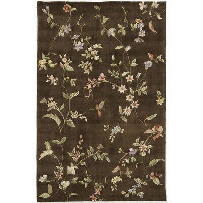 Hand-Tufted Brown Area Rug Rug Size: 7 x 9