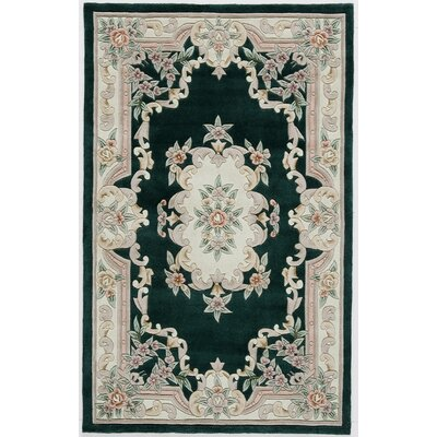 Hand-Tufted Wool Black/Gray Area Rug Rug Size: 2 x 4