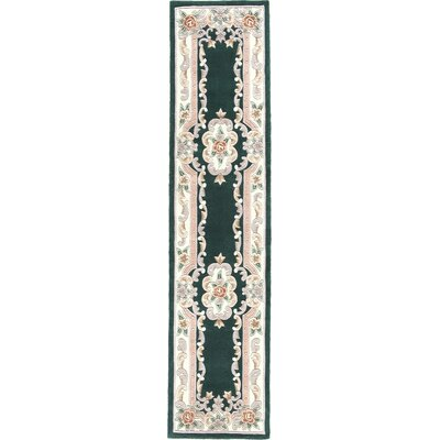 Hand-Tufted Black/Gray Area Rug Rug Size: Runner 23 x 10