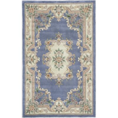 Hand-Tufted Wool Light Blue Area Rug Rug Size: 8 x 11