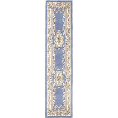 Hand-Tufted Wool Light Blue Area Rug Rug Size: Runner 23 x 10