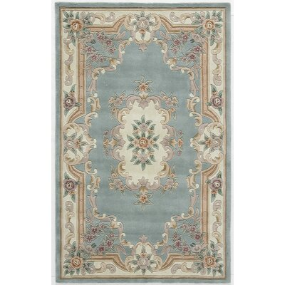 Hand-Tufted Wool Light Green Area Rug Rug Size: 5 x 8