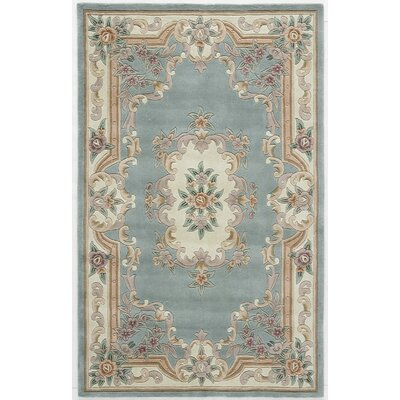 Hand-Tufted Wool Light Green Area Rug Rug Size: 4 x 6