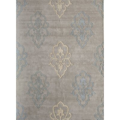 Hand-Woven Silver Area Rug Rug Size: 7 x 9