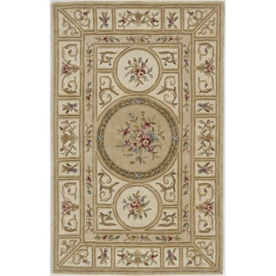 Hand-Woven Beige Area Rug Rug Size: Octagon 6