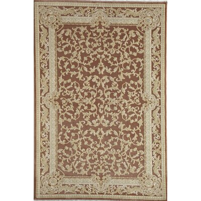 Red/Beige Area Rug Rug Size: 67 x 96