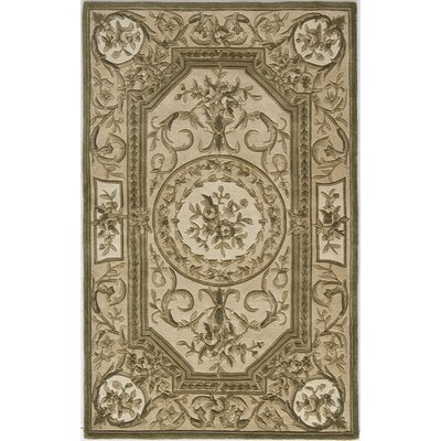 Hand-Woven Olive Area Rug Rug Size: 36 x 56