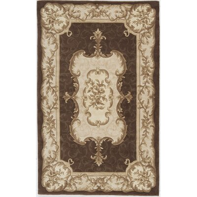 Hand-Woven Brown Area Rug Rug Size: 7 x 9