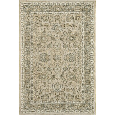 Cream/Blue Area Rug Rug Size: 2 x 211