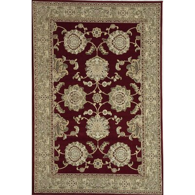 Red Area Rug Rug Size: 67 x 96