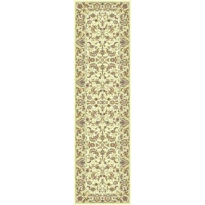 Cream Area Rug Rug Size: Runner 23 x 710
