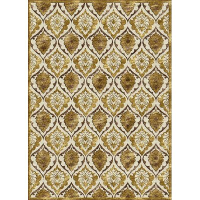 Gold Area Rug Rug Size: 7'7