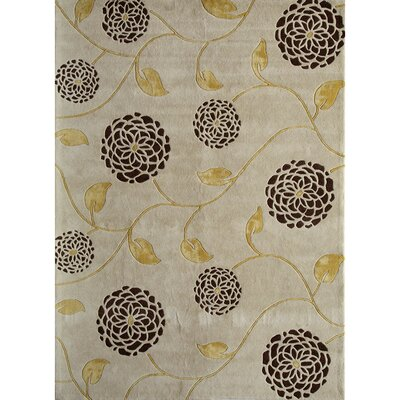 Hand-Woven White Area Rug Rug Size: 5 x 8