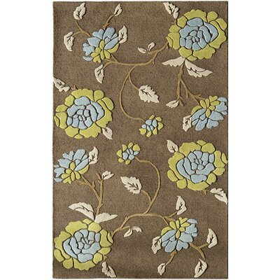 Hand-Woven Brown Area Rug Rug Size: 8 x 11