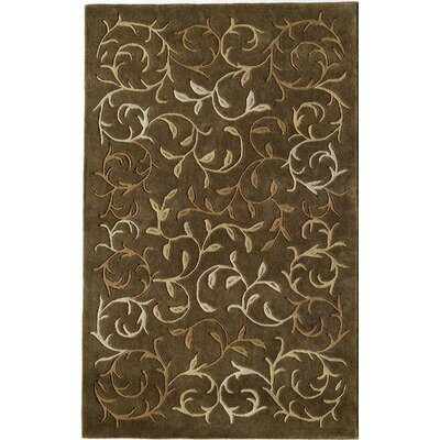 Hand-Woven Brown Area Rug Rug Size: 5 x 8
