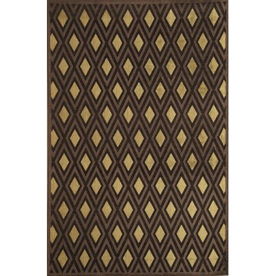 Brown Area Rug Rug Size: 16 x 23