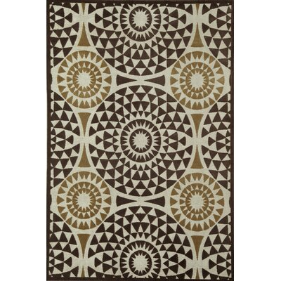 Brown Area Rug Rug Size: 51 x 77