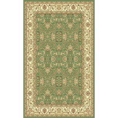 Green Area Rug Rug Size: Oval 33 x 53