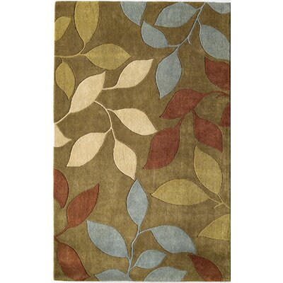 Hand-Woven Olive Area Rug Rug Size: 5 x 8