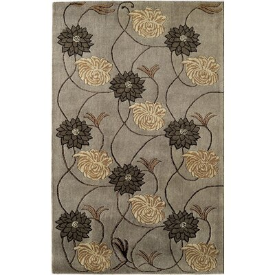 Hand-Woven Slate Area Rug Rug Size: 8 x 11