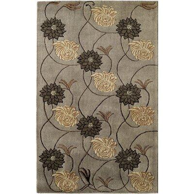 Hand-Woven Slate Area Rug Rug Size: 5 x 8