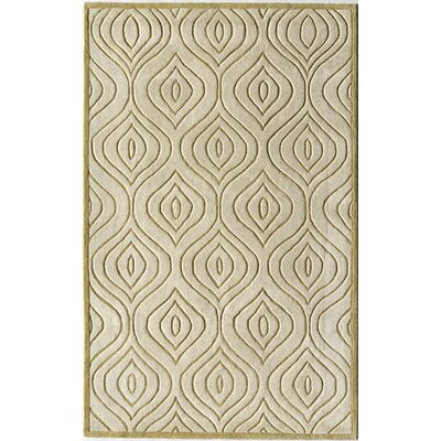 Hand-Woven Gold Area Rug Rug Size: 16 x 23
