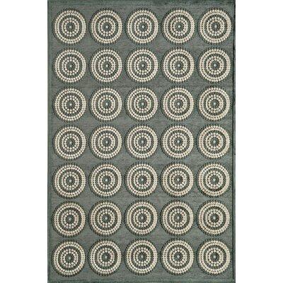 Gray Area Rug Rug Size: 51 x 77