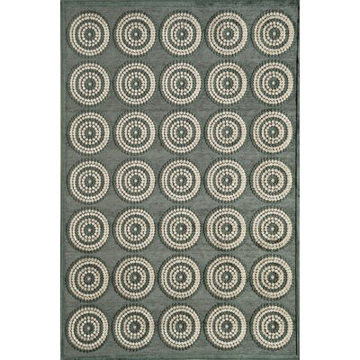 Gray Area Rug Rug Size: 77 x 106