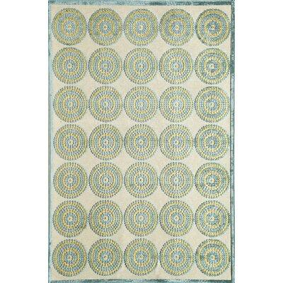Blue Area Rug Rug Size: 51 x 77
