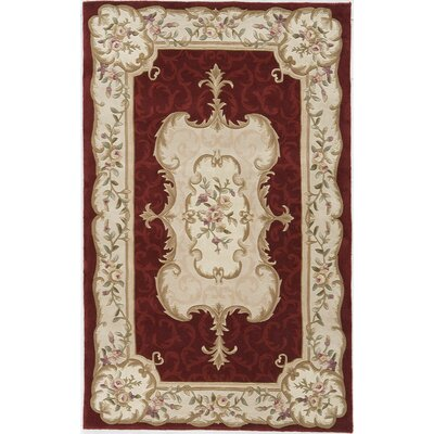 Hand-Tufted Burgundy Area Rug Rug Size: 8 x 11