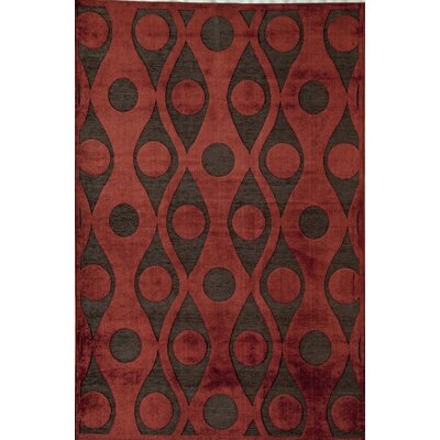 Red Area Rug Rug Size: 51 x 77