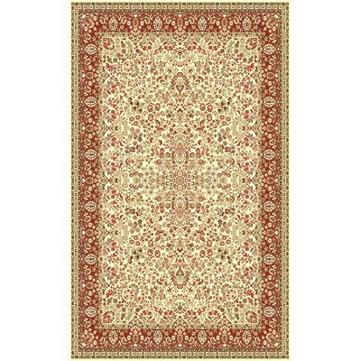 Cream Area Rug Rug Size: Oval 33 x 53