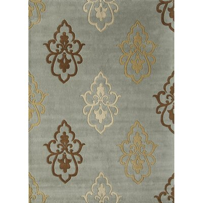 Hand-Woven Blue Area Rug Rug Size: 7 x 9
