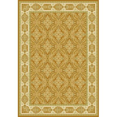 Gold Area Rug Rug Size: 7'10