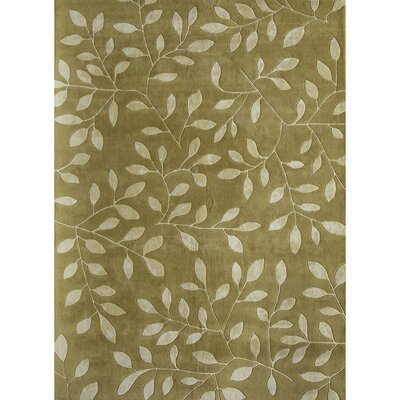 Hand-Woven Olive Area Rug Rug Size: 1'6