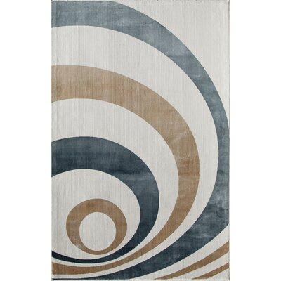 White/Blue Area Rug Rug Size: Runner 22 x 73