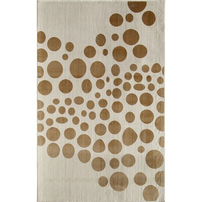 Brown/Cream Area Rug Rug Size: 34 x 47