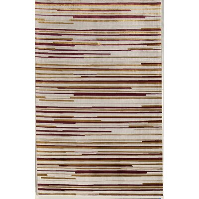 Cream Area Rug Rug Size: 411 x 76