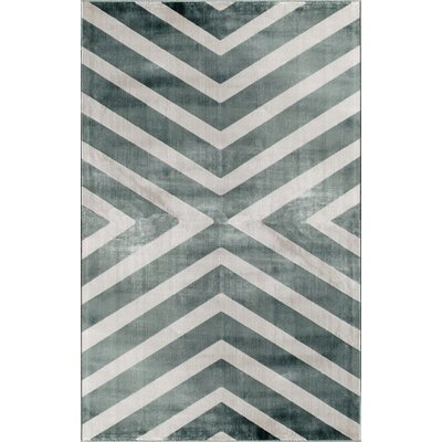 Grey Area Rug Rug Size: 411 x 76