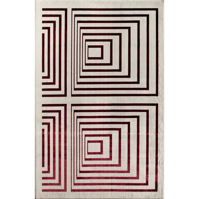 Beige/Red Area Rug Rug Size: Runner 22 x 73