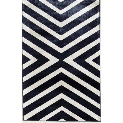 Navy/Cream Area Rug Rug Size: 411 x 76