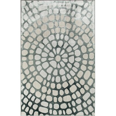 Gray/Cream Area Rug Rug Size: 34 x 47