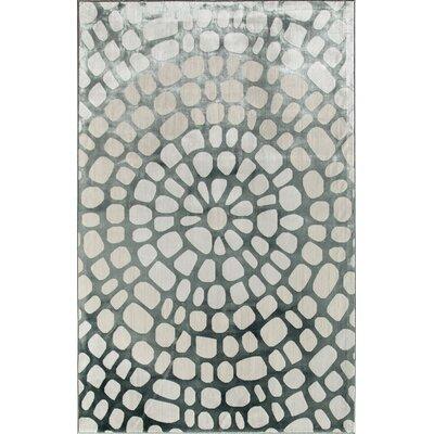 Gray/Cream Area Rug Rug Size: Runner 22 x 73